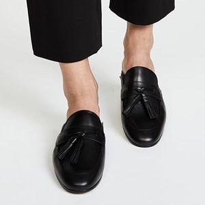 Sam Edelman Paris Tassel Mules Black Leather